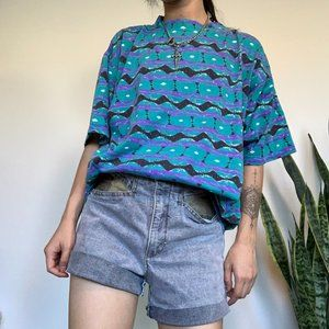 Vintage Ocean Pacific Allover Graphic T-shirt